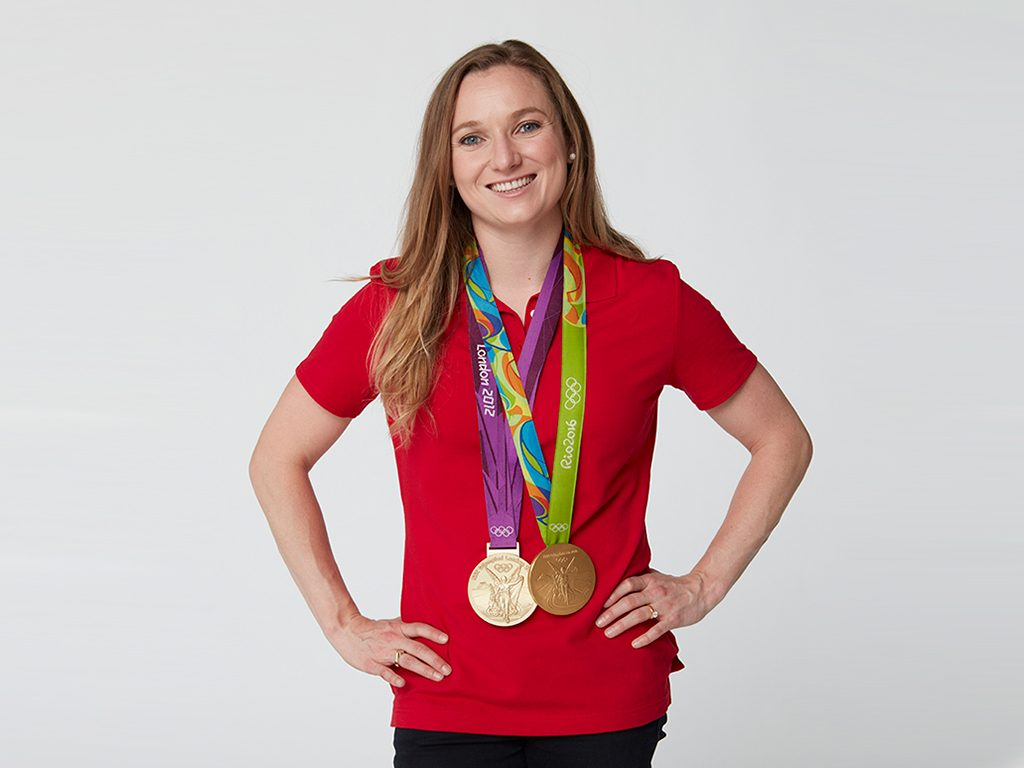 Rosie MacLennan and her medals