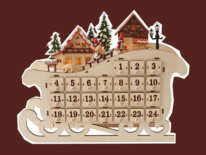 advent calendars 2017 Indigo sleigh
