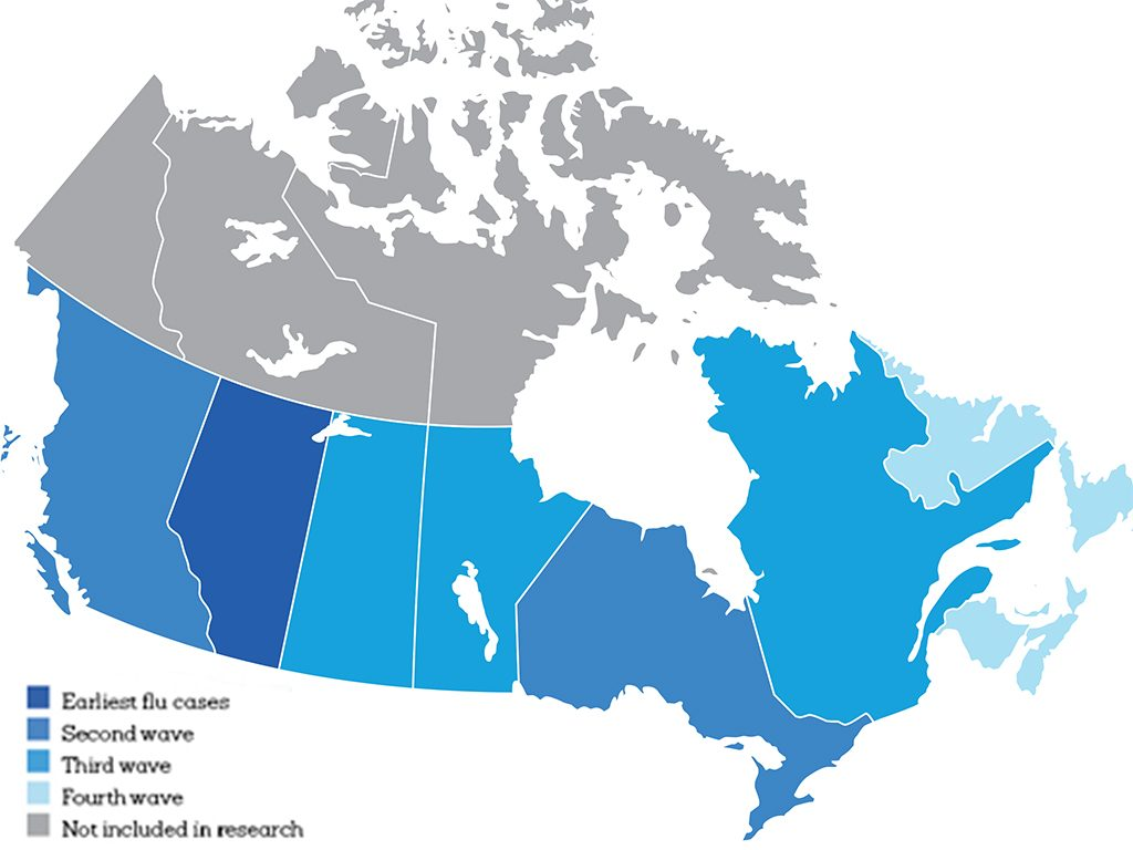 cold flu map canada