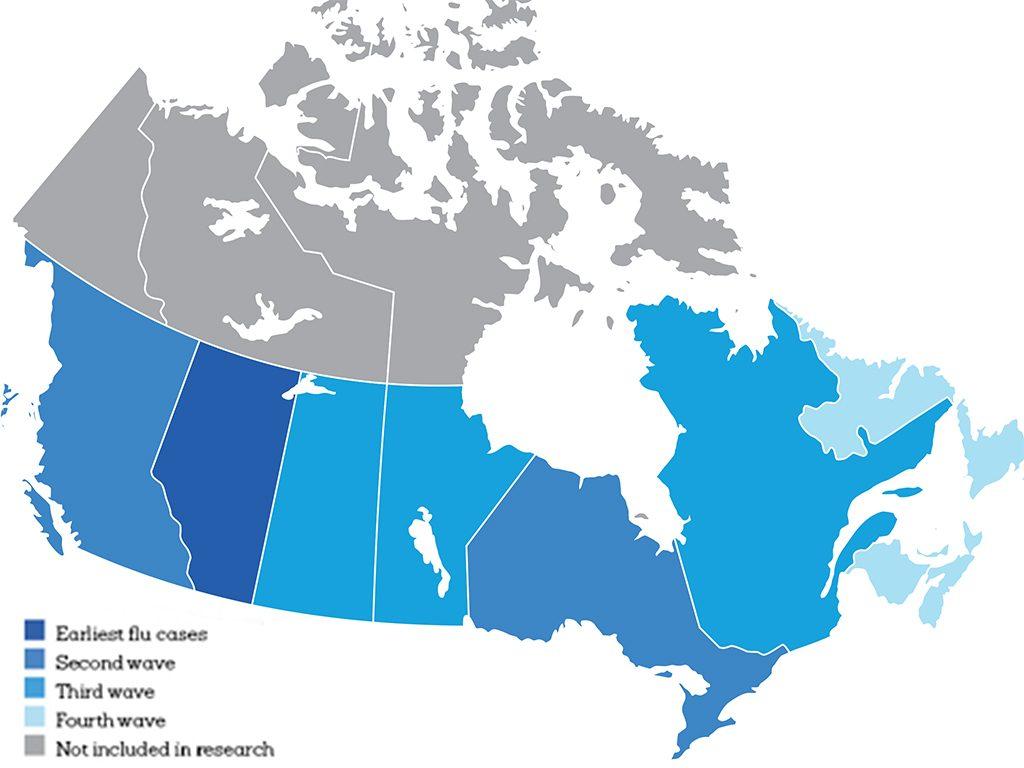 cold flu map canada