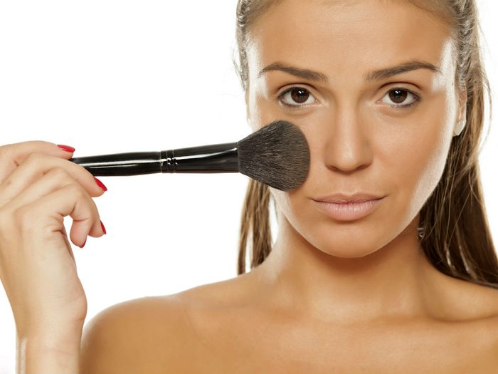 concealer properly Color correcting only with bright colors