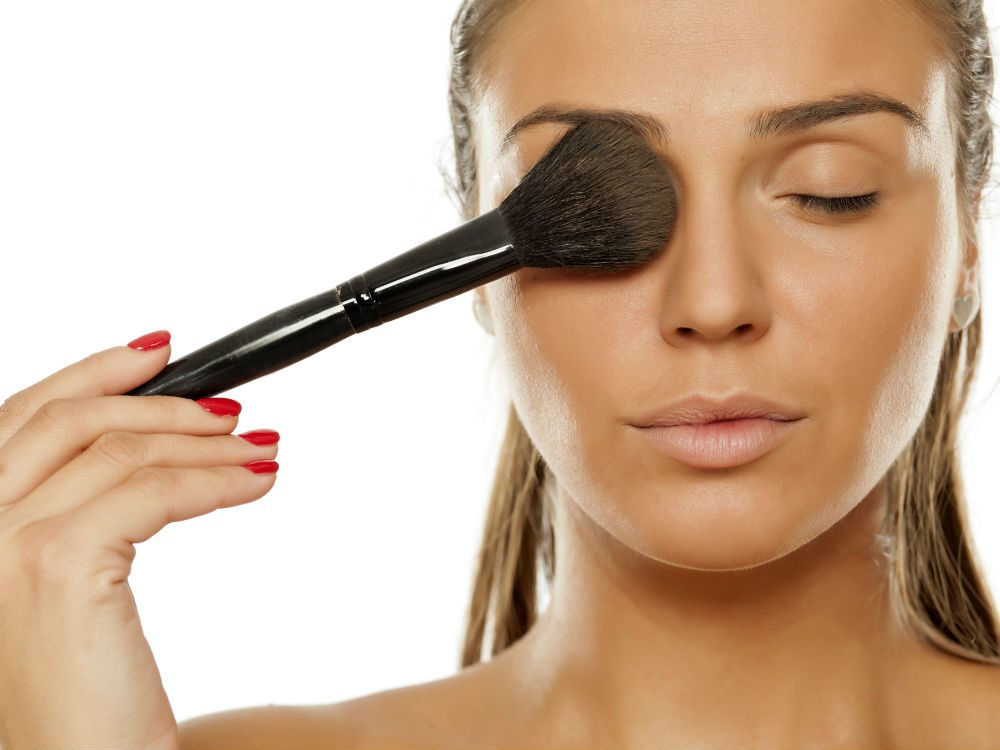 concealer properly You picked up a random brush