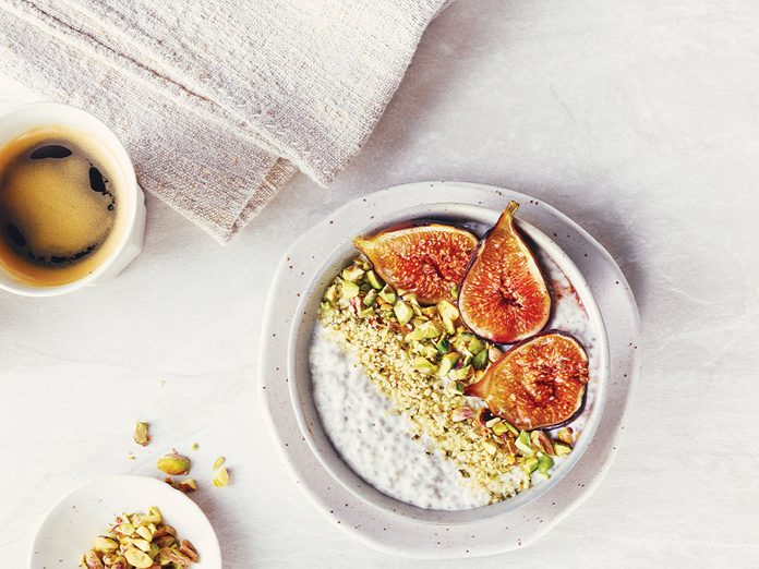 fridge-friendly recipes | fig chia pudding recipe