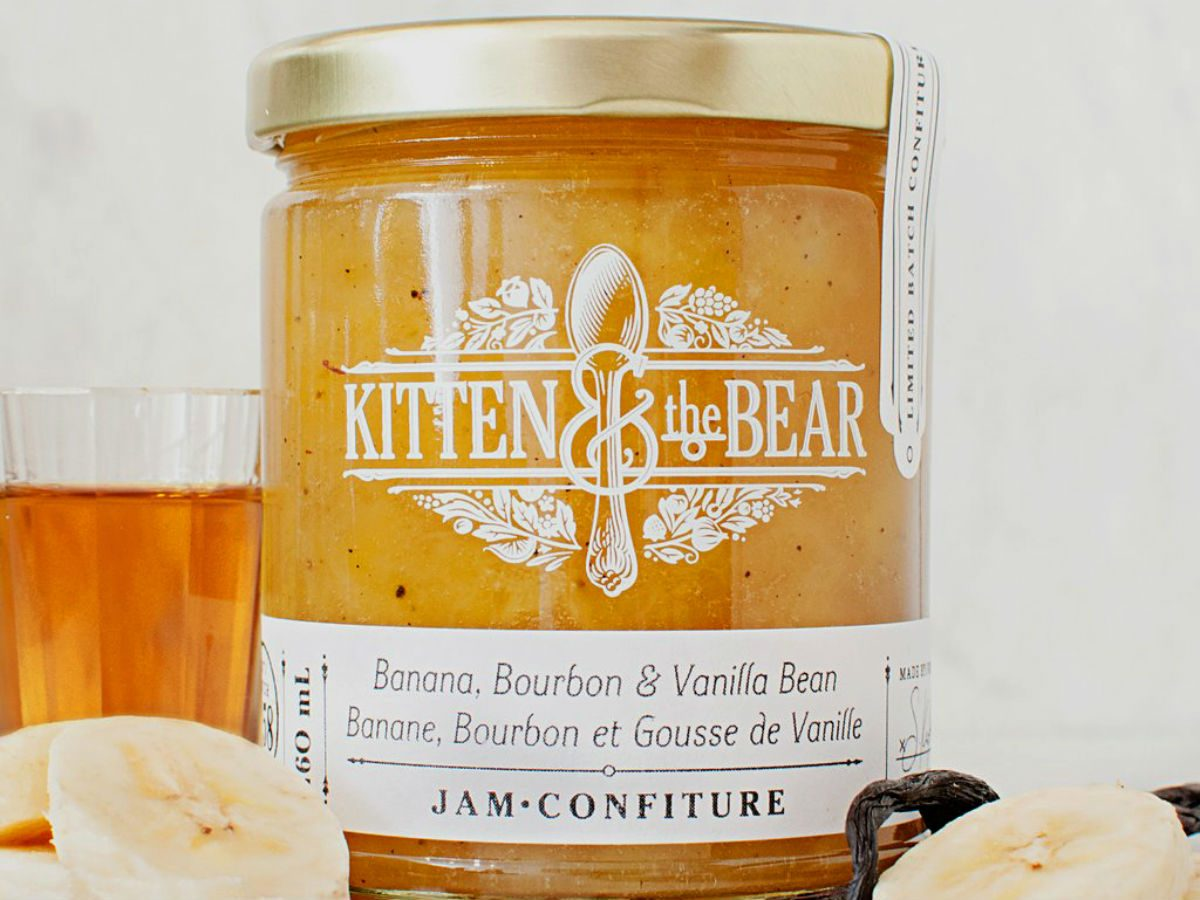 foodie gift ideas Kitten and the bear Banana jam