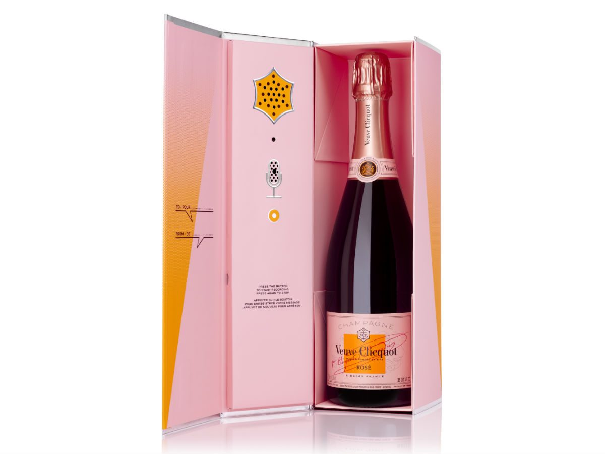 foodie gift ideas rose veuve clicquot