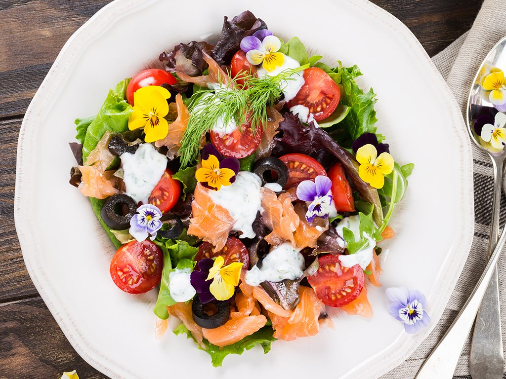 foods for great skin, edible flowers