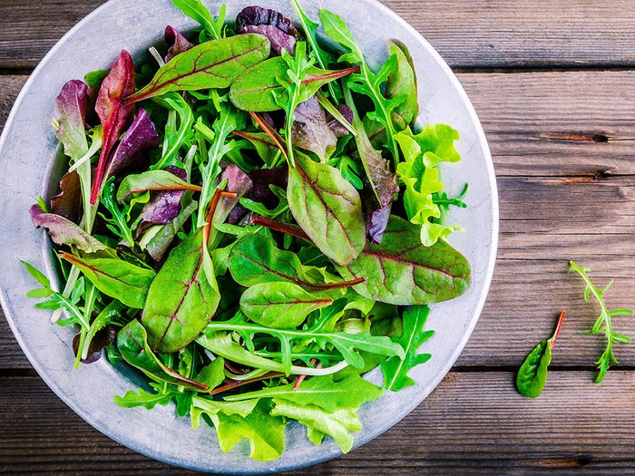 foods for great skin, a variety of greens