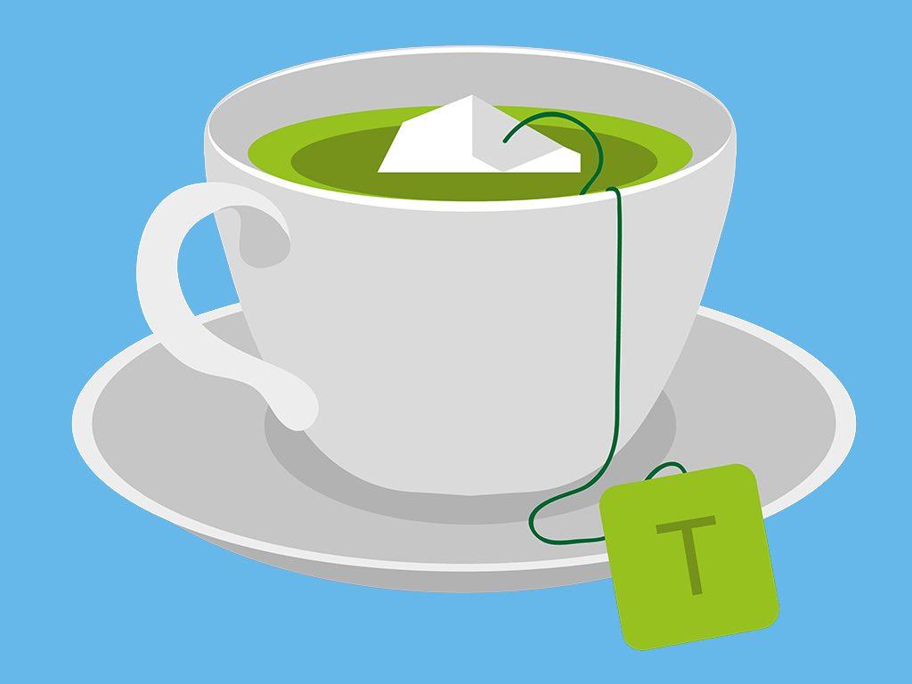 nagging cough green tea