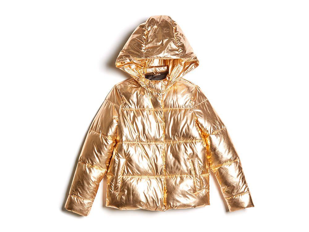 Guess, golden puffer jacket