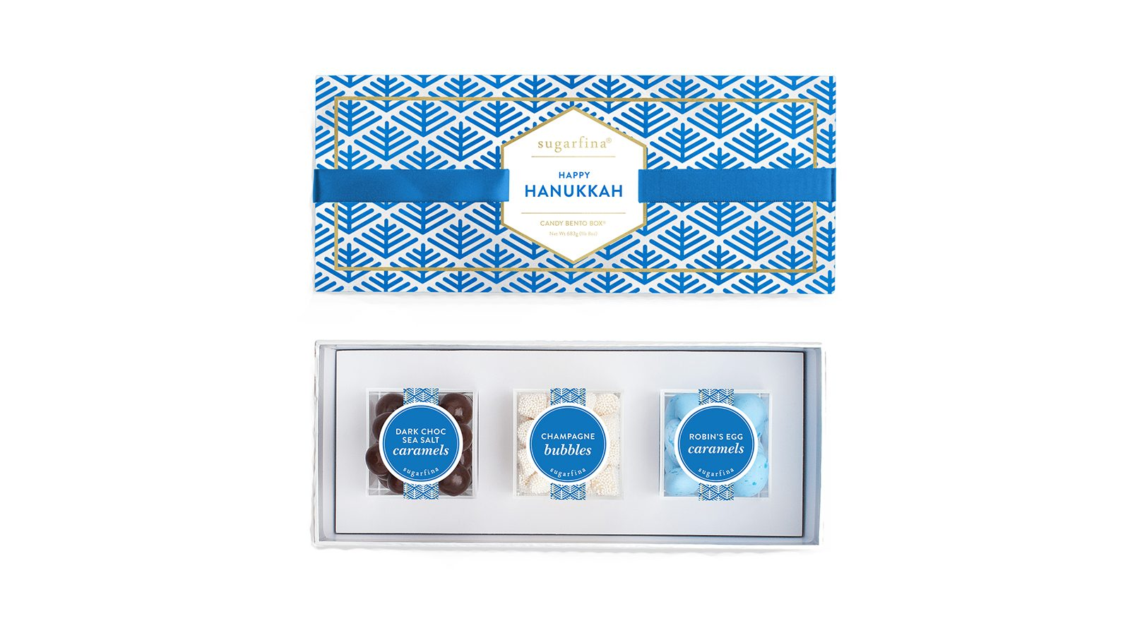 Holiday foods Sugarfina Happy Haunukkah Candy Bento Box