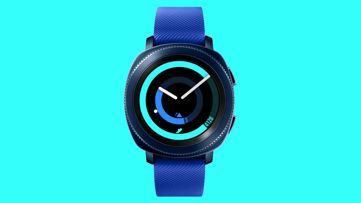 fitness smart watch Samsung Gear Sport blue