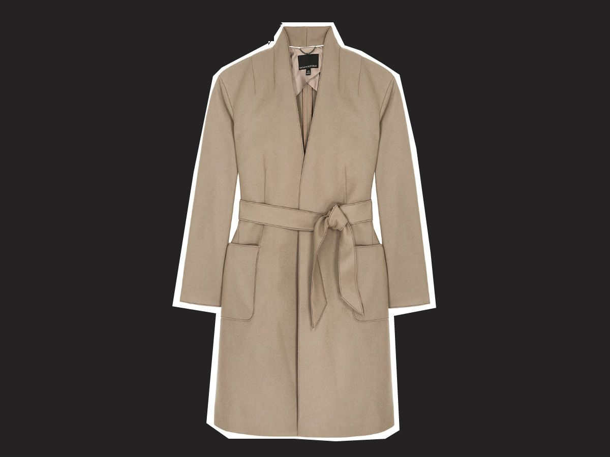 wrap coats Melton wrap coat