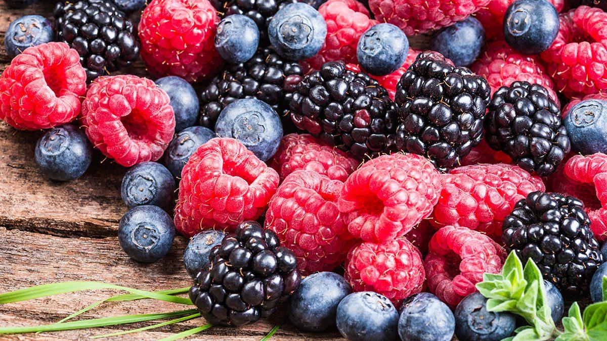 Berries, variety of berries