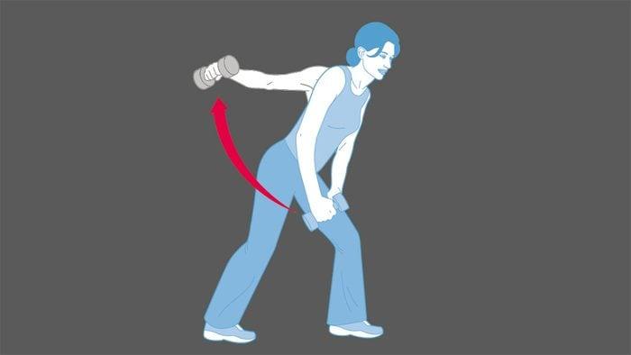strength training exercises, One Arm Back Flys