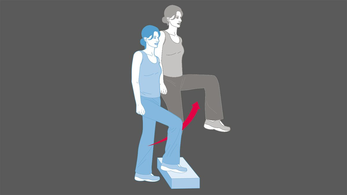 strength training exercises, stair step-ups