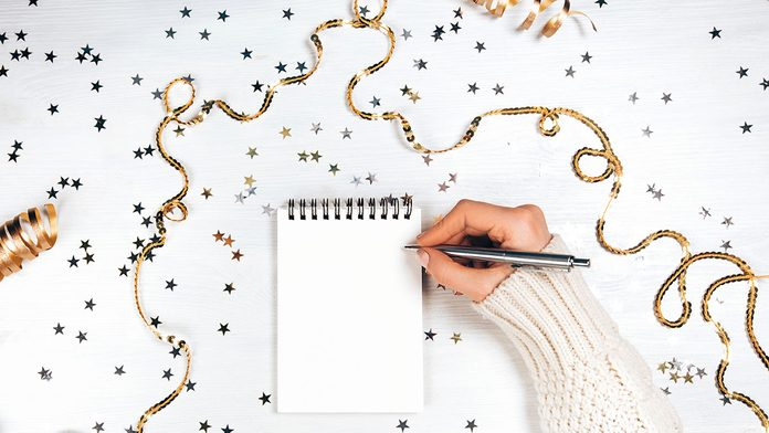 New Year's Resolutions, note pad