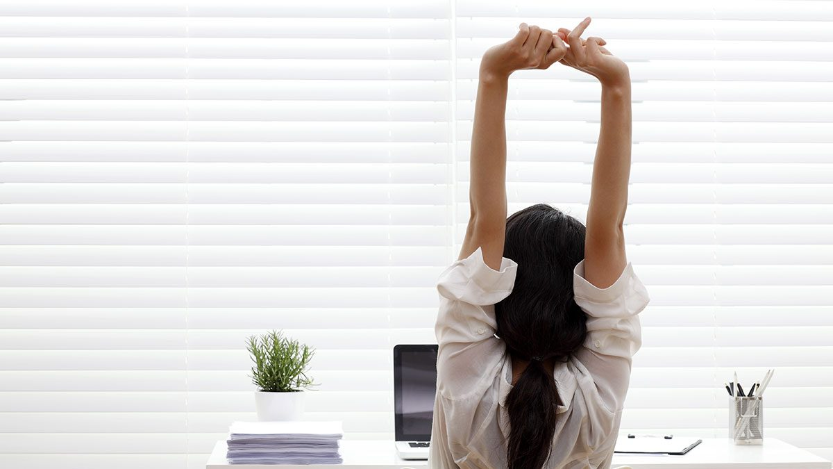 Resolutions, stretch at desk