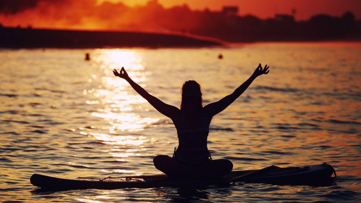 SUP yoga centre of balance