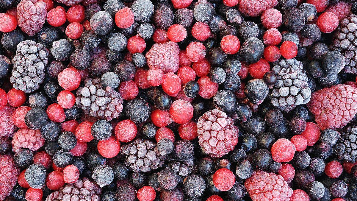 Vegan Shopping List, frozen berries