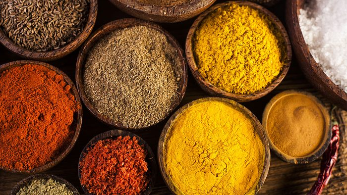 Vegan Shopping List, herbs and spices