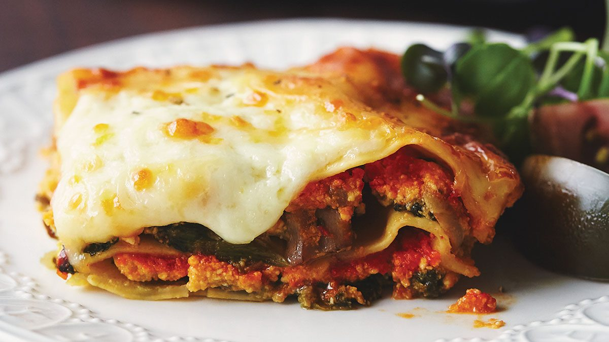 When You Need Comfort Food, Make This Roasted Red Pepper & Pumpkin Lasagna
