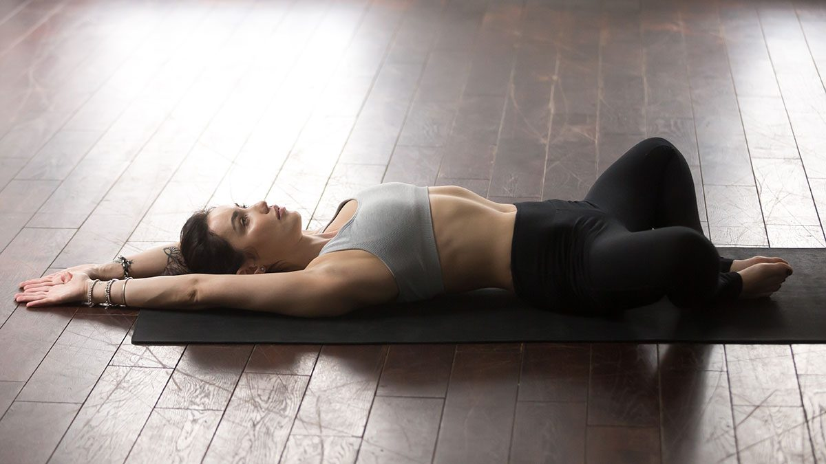 Yoga For Digestion, angle pose
