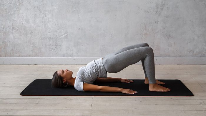 Yoga For Digestion, bridge pose