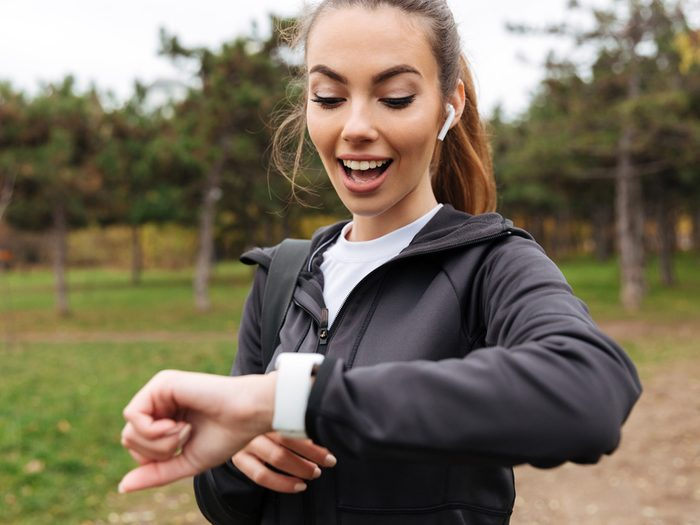 woman met goal of walking 10,000 steps a day