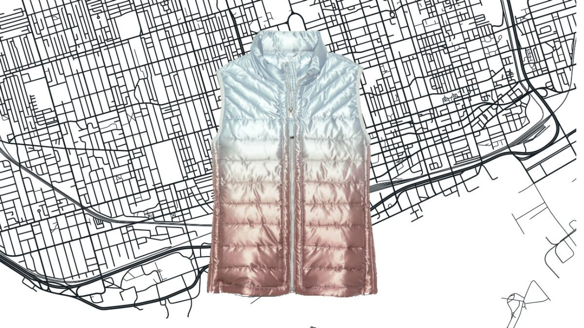 athleisure for women Gap Ombre Puffer Vest