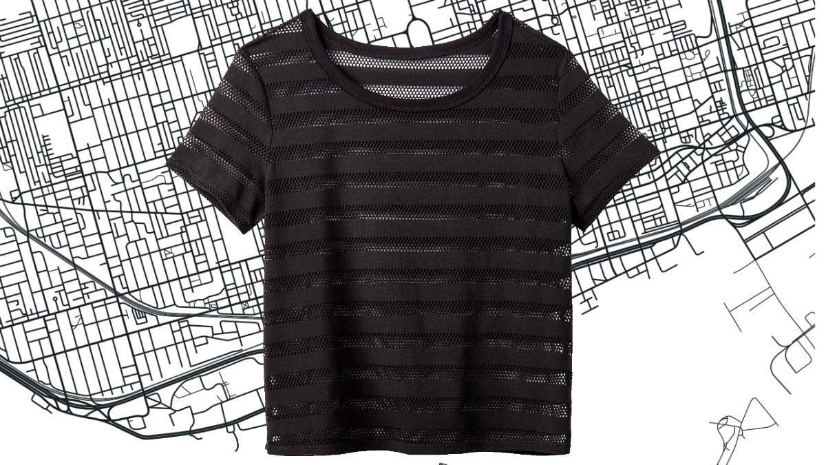 athleisure for women Winners Striped T-shirt