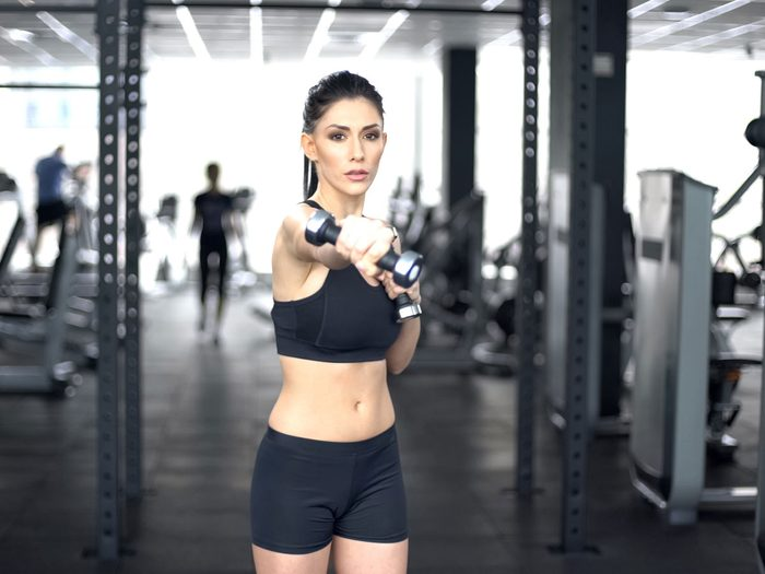 best arm exercises for women dumbbell punch