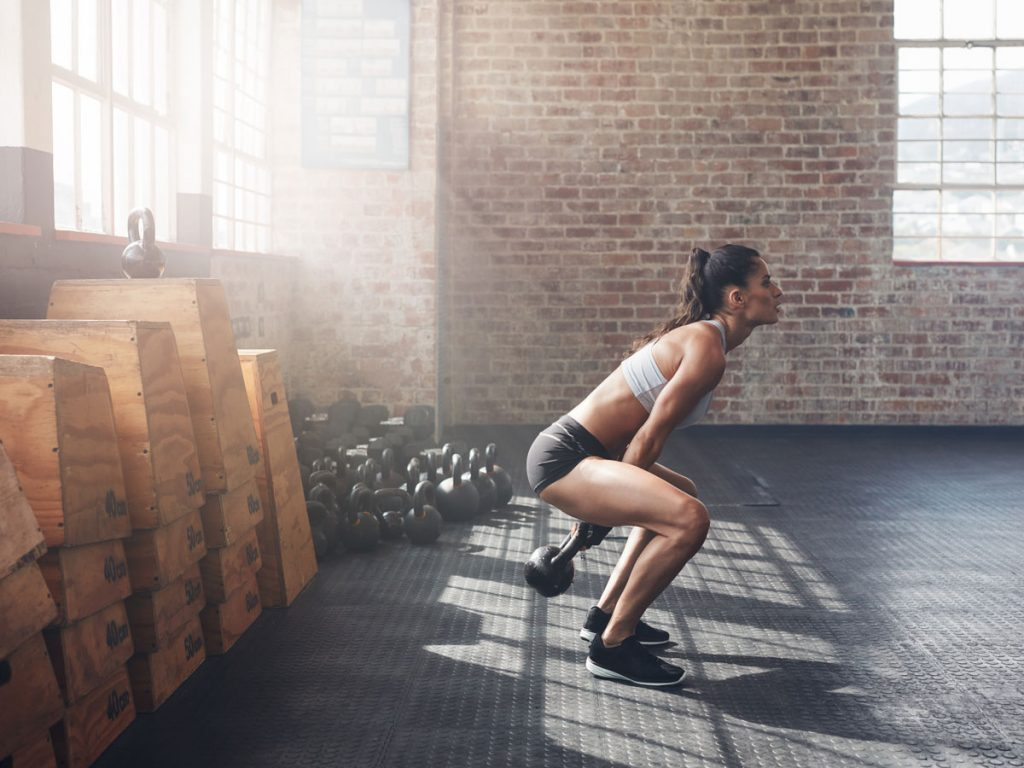 best arm exercises for women two-arm kettlebell swing