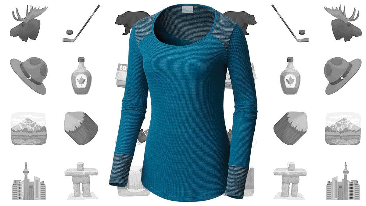 canadian-winter-Women's-Midweight-Stretch-Baselayer-Long-Sleeve-Shirt
