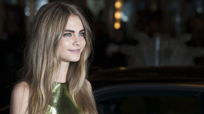celebrity blonde cara delevigne stylist