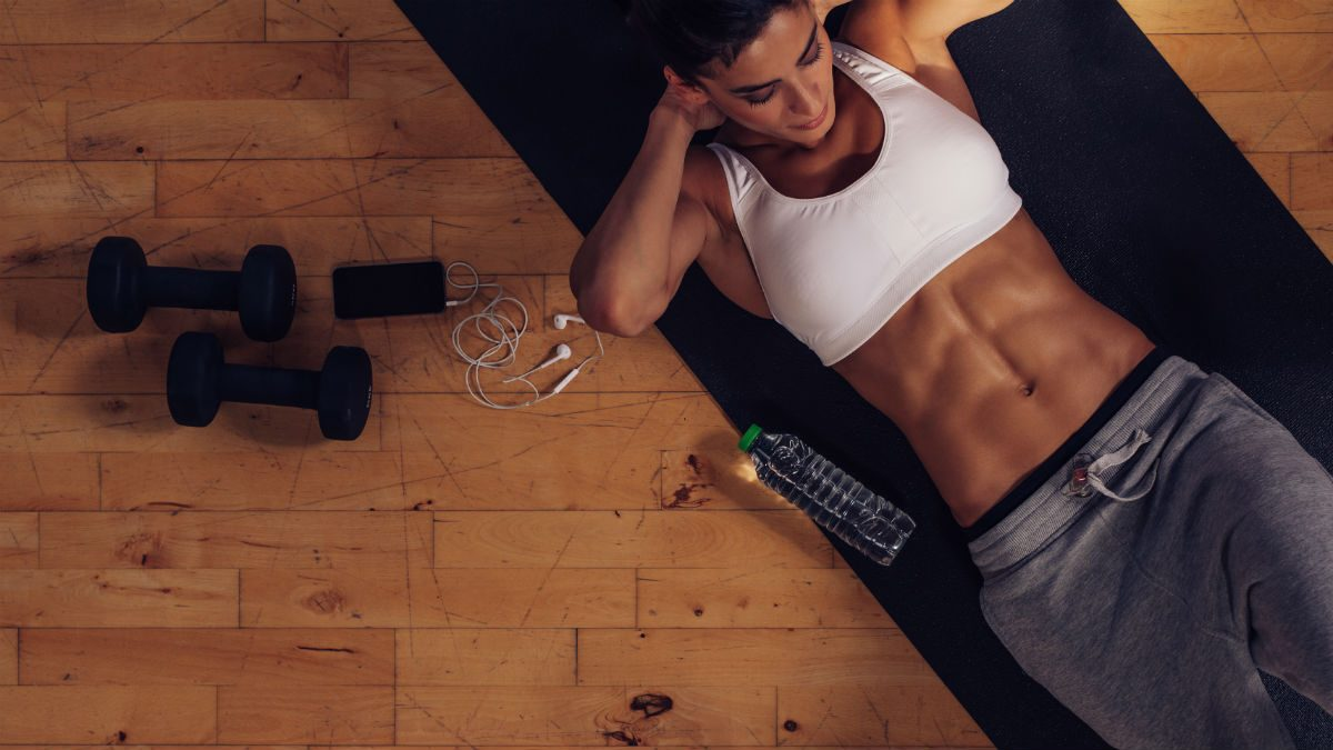 how to get abs for women Work out as hard