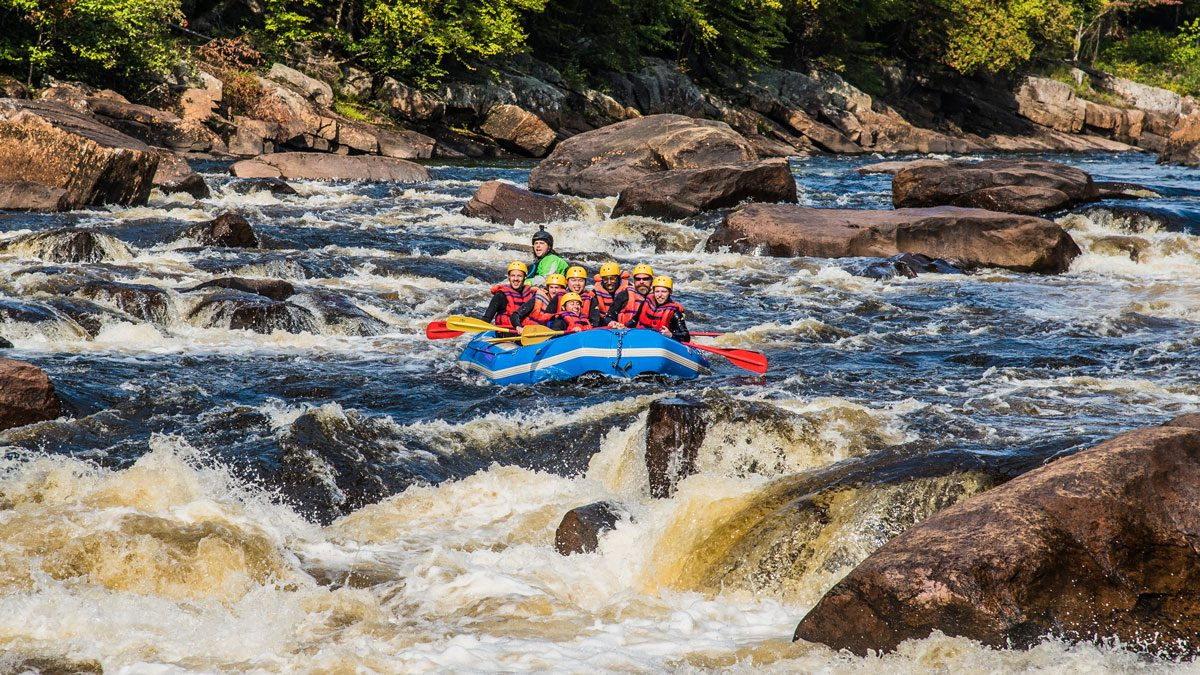 Lac Beauport Quebec rafting
