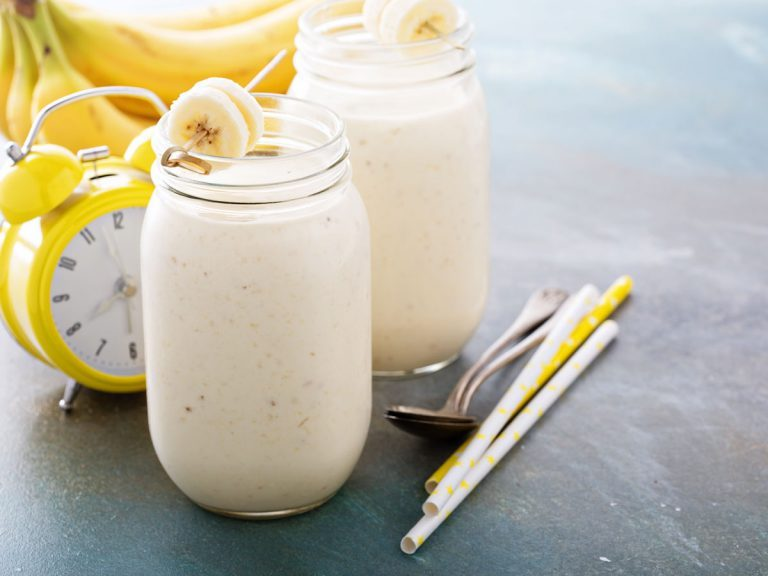 post-workout banana protein smoothie