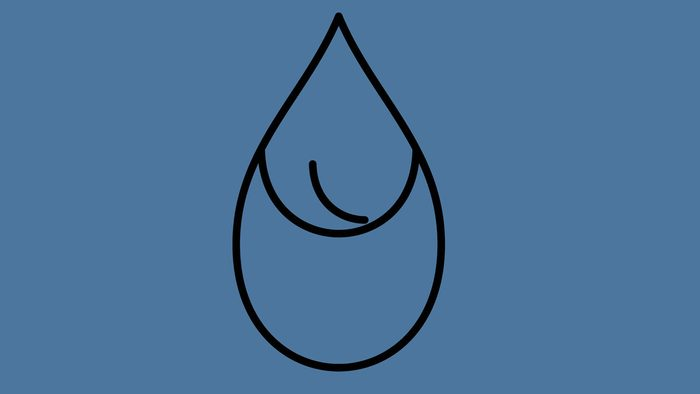 quality of drinking tap water, illustration of a water droplet