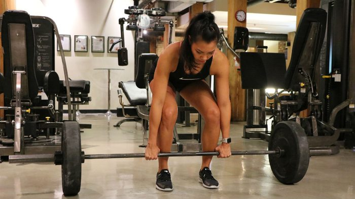 weights for women Barbell Deadlift