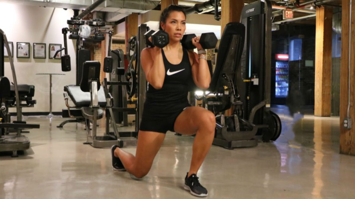weights for women Dumbbell Reverse Lunges
