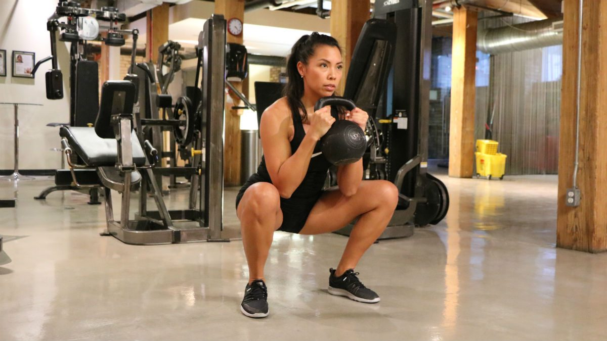 weights for women Kettlebell Goblet Squat