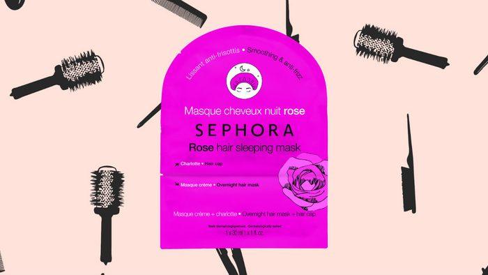 winter hair masks Sephora Rose Hair Sleeping Mask