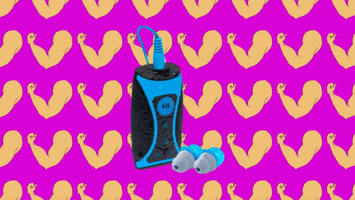 workout fun fitness gear Waterfi Waterproof MP3 Player Swim Kit