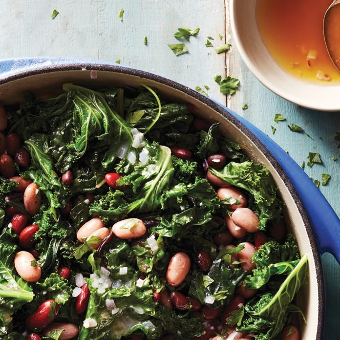 A Tasty Beans, Greens and Butter Side Dish