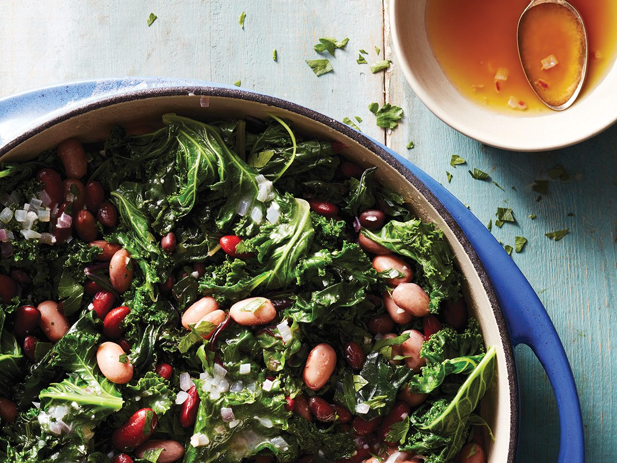 Beans, greens and butters side dish