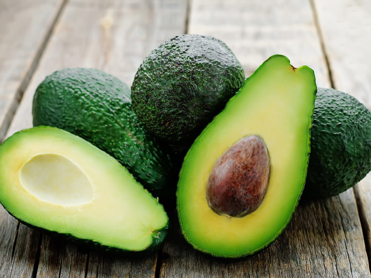 Butter substitute, halved avocados