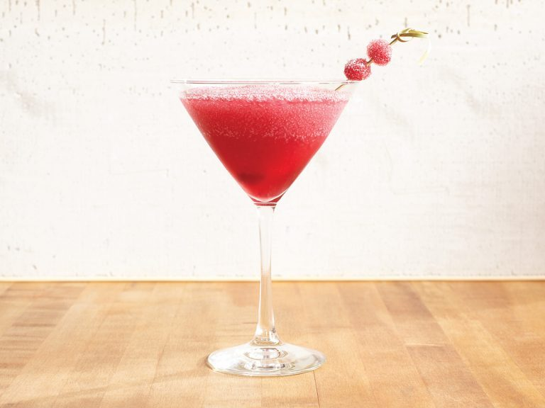 Frosted Cosmopolitan cocktail