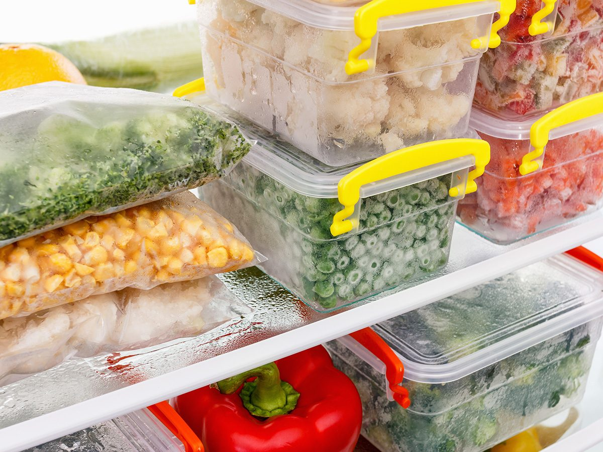 Cooking mistakes, vegetables in fridge in plastic containers