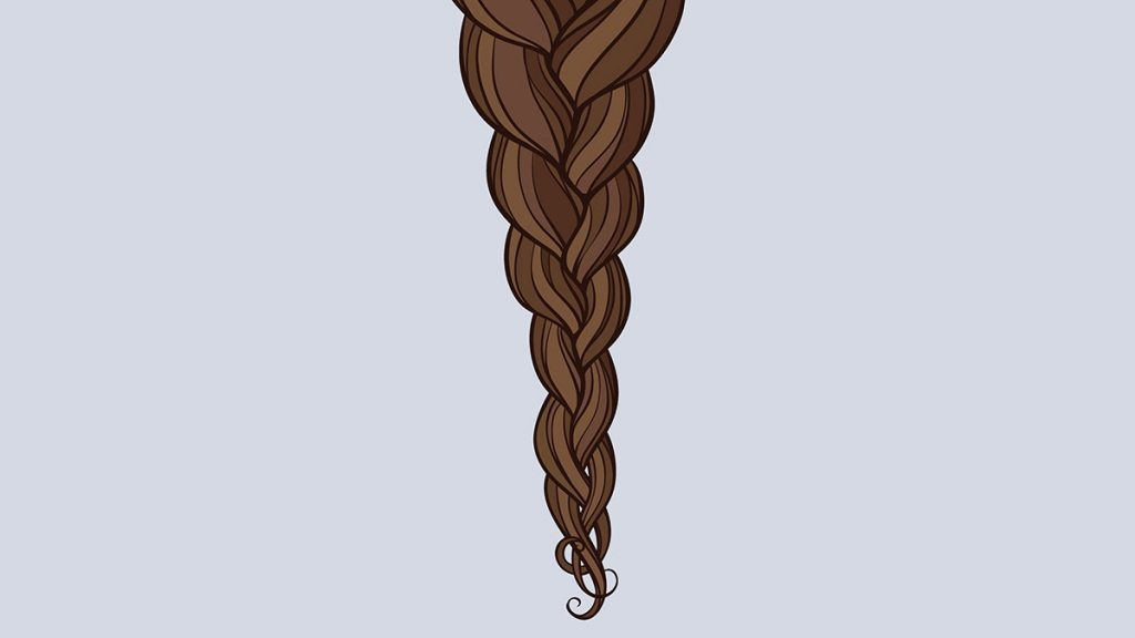 Hair Breakage, loose hair braid