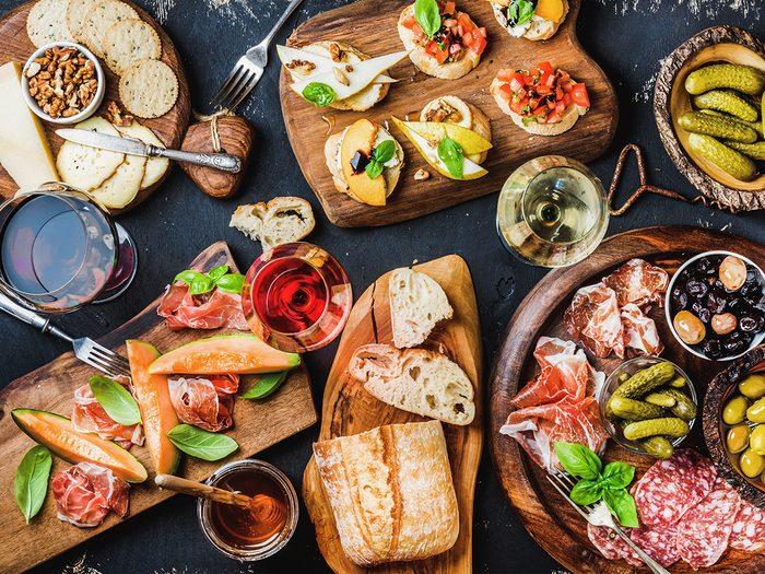 High cholesterol, Mediterranean food spread